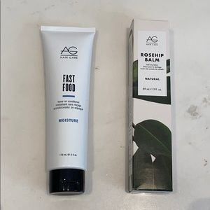 New in box AG 2 piece set Fast Food & Rosehip balm